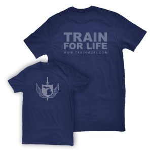 Train for Life Tshirt Blue