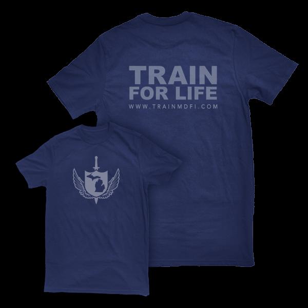 Train for Life Tshirt Blue